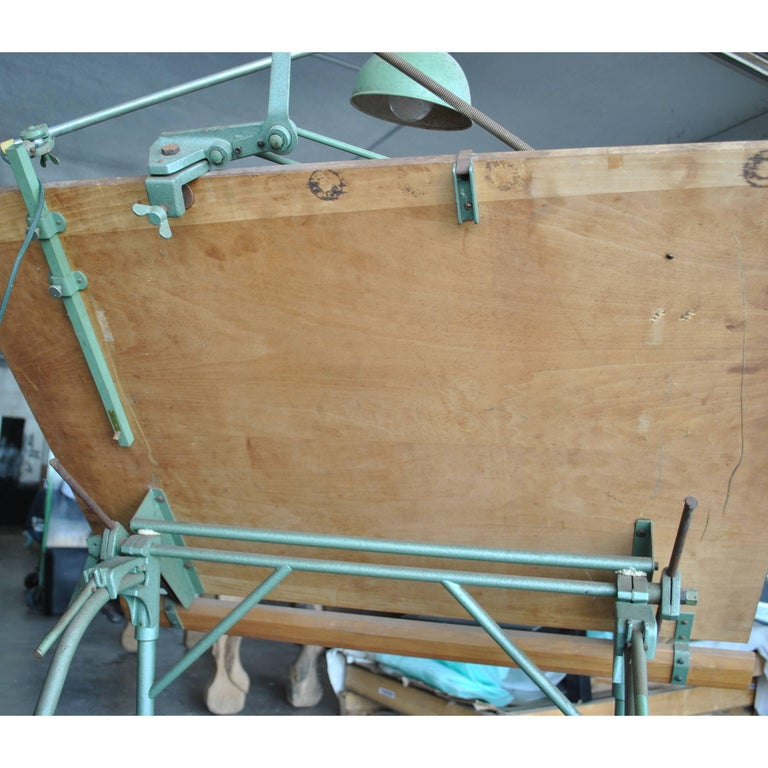 Christian Dell For Franz Kulmann KG Folding Drafting Table In Good Condition For Sale In Pasadena, TX