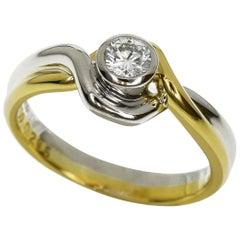 Christian Dior 0.205 Carat Diamond 18 Carat Yellow Gold Ring
