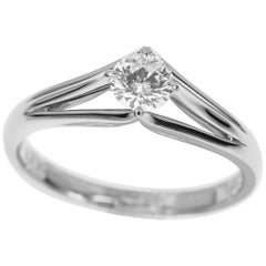 Christian Dior 0.292 Carat Diamond Platinum Ring