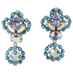 Christian Dior 1958 Turquoise Drop Earrings
