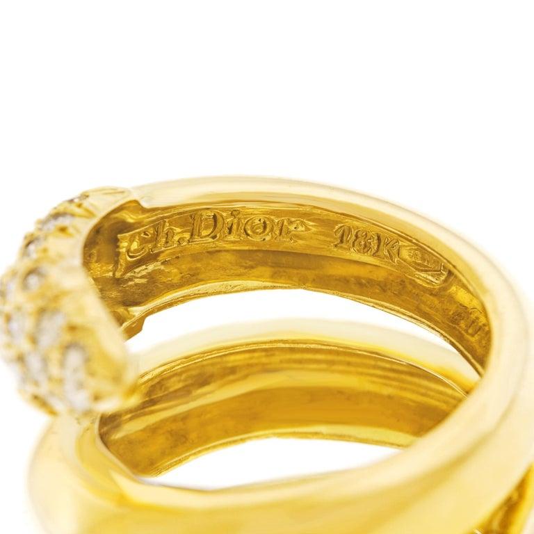 Women's Christian Dior 1960s Diamond-set Gold Snake Ring