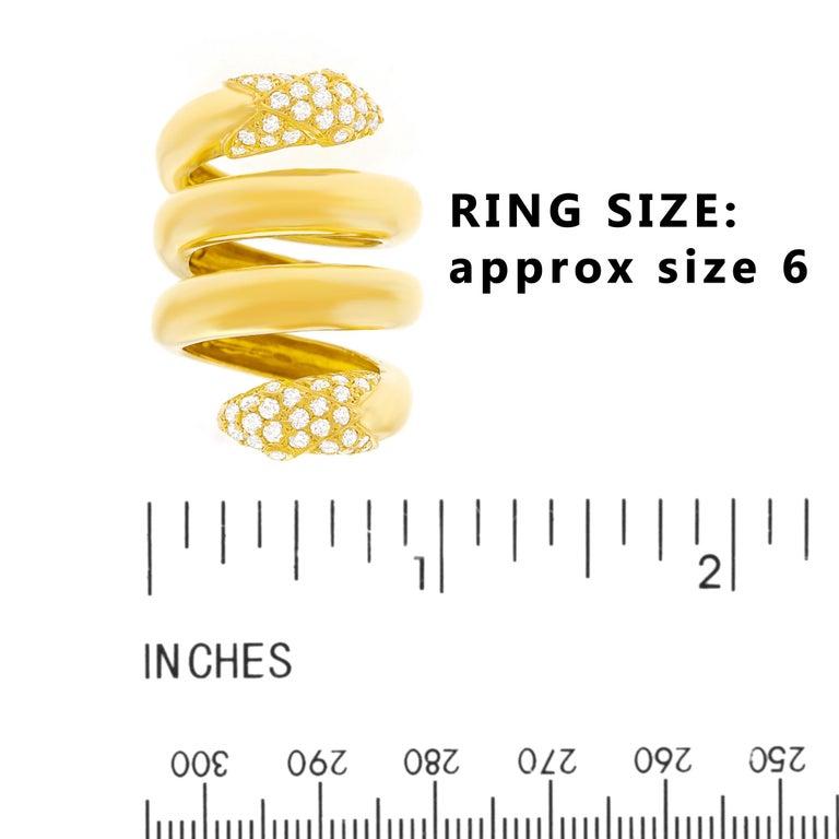Christian Dior 1960s Diamond-set Gold Snake Ring 1