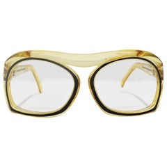 Christian Dior 1970s Oversized Glasses