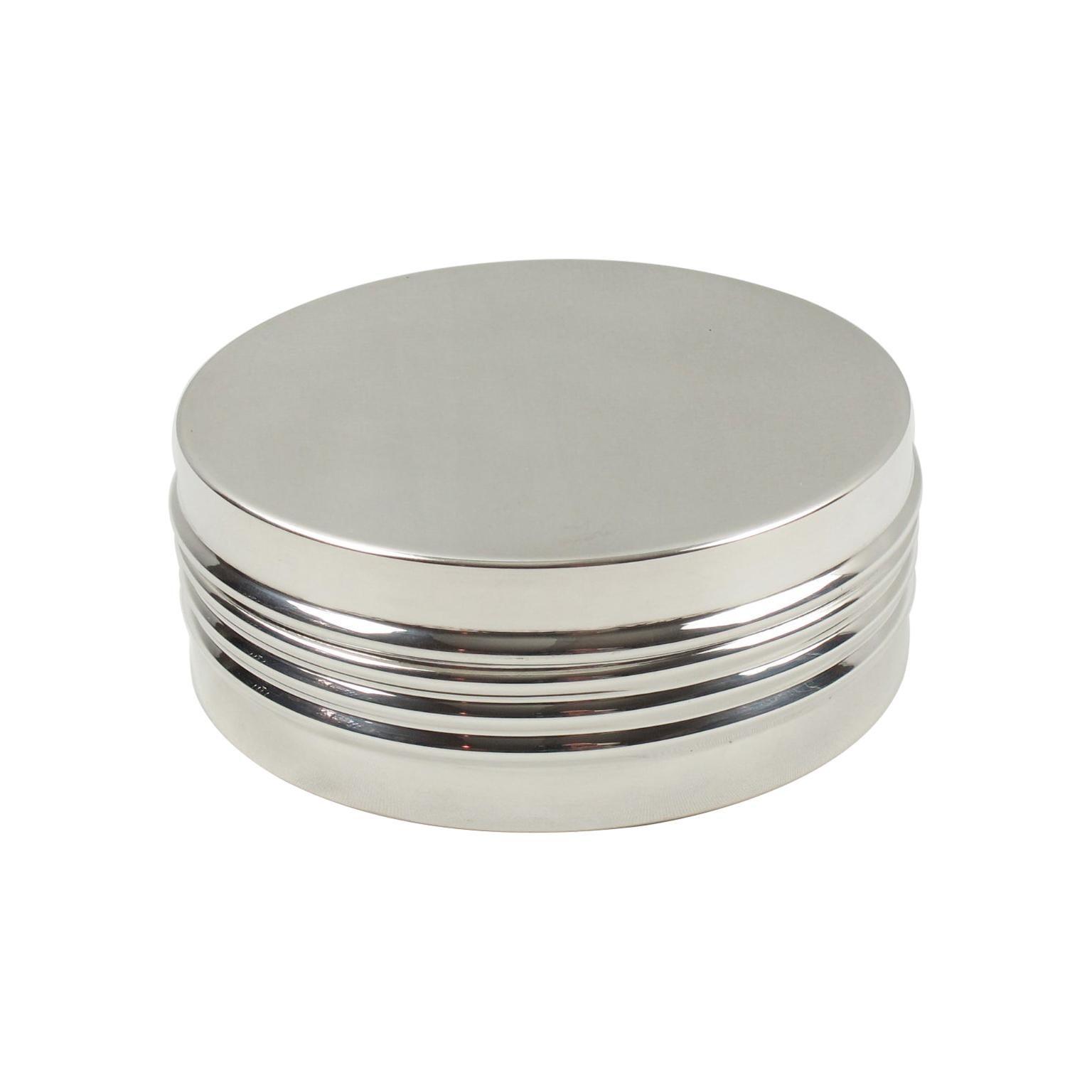 Christian Dior 1970s Silver Plate Box