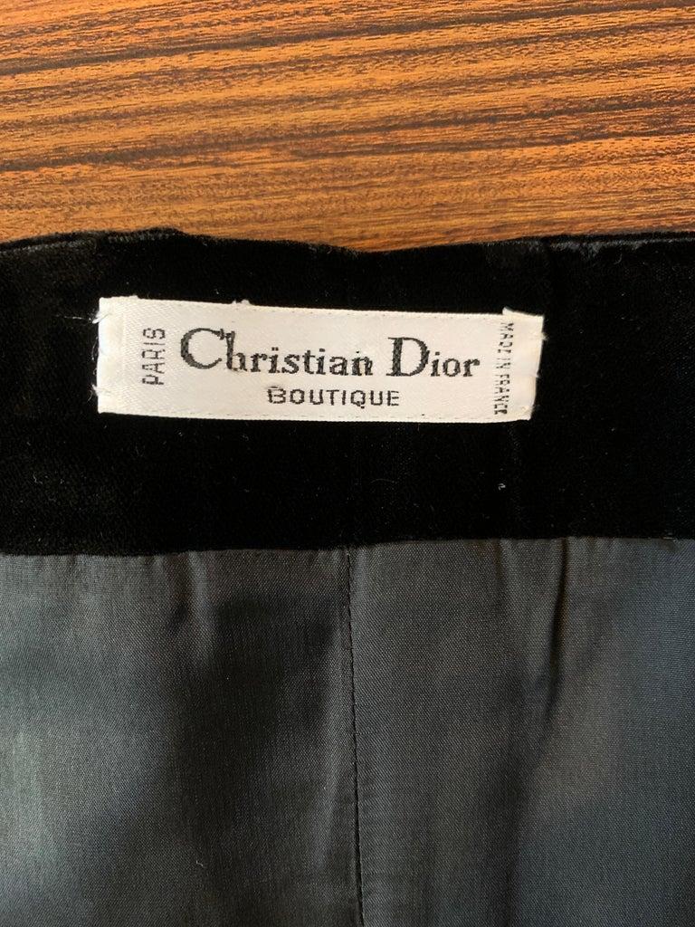 Christian Dior 1980s Black Velvet and Gold Beaded Star Corset Bustier 2