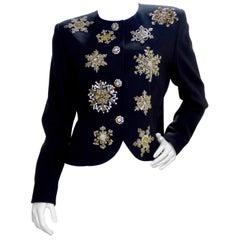 Christian Dior 1980s Numbered Snowflake Blazer