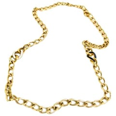 Christian Dior 1980s Vintage Gold Plated Large Chunky Chain