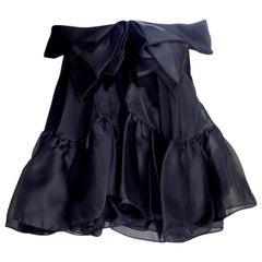 Christian Dior 1990s Peplum Silk Blouse designed by Gianfranco Ferré