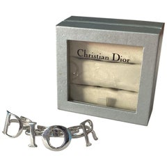 Christian Dior 2000 Silver Spell-out Logo Four Ring Set