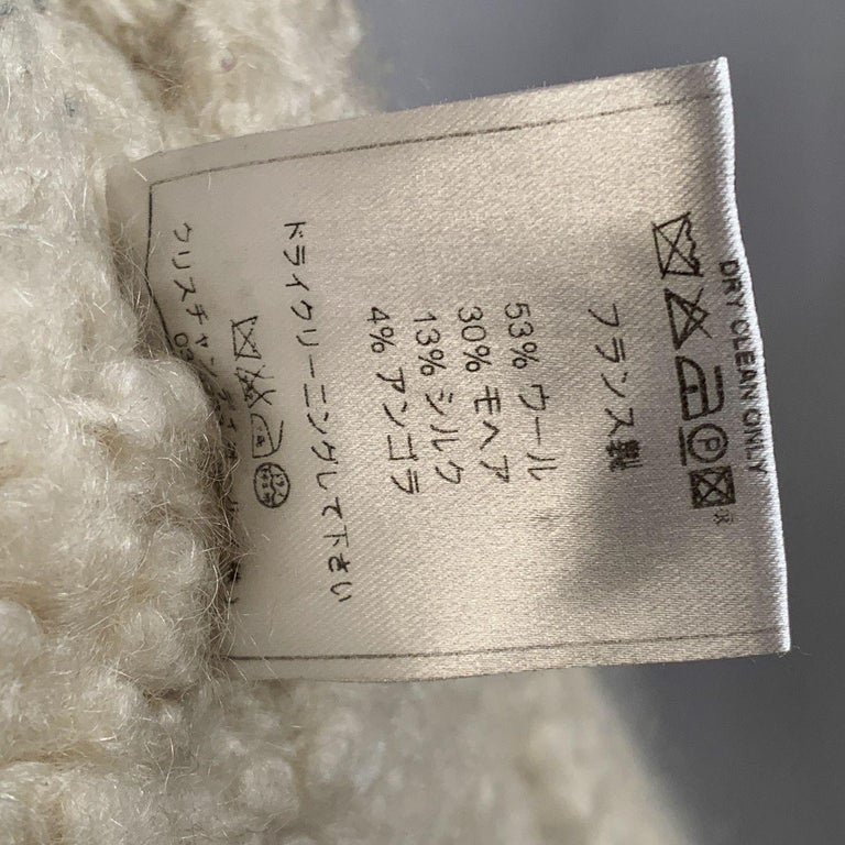 Christian Dior 2005 Gray Wool Shearling Jacket Size38 For Sale 7
