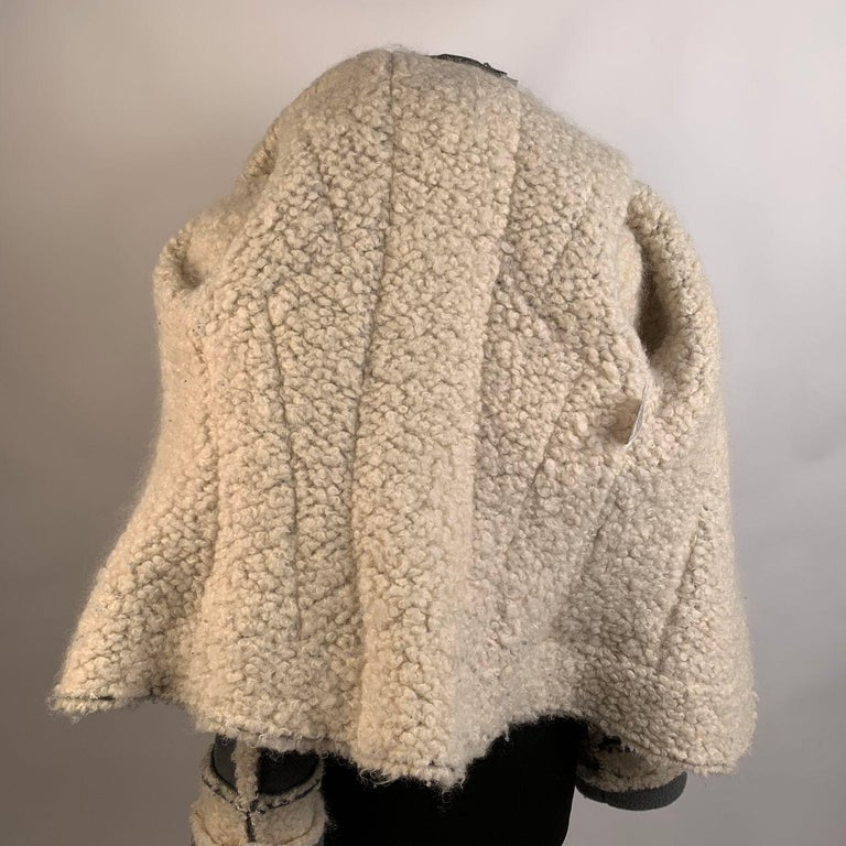Christian Dior 2005 Gray Wool Shearling Jacket Size38 For Sale 5
