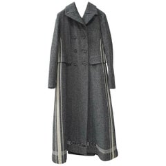Christian Dior 2017 Wool Gray Coat