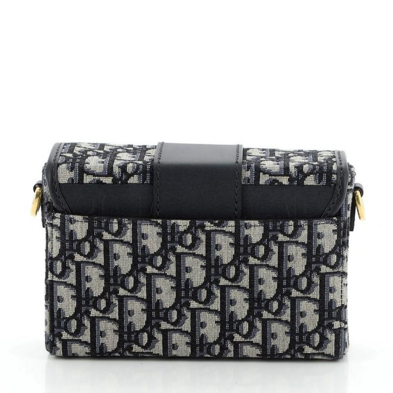 Christian Dior 30 Montaigne Box Bag Oblique Canvas  In Good Condition In New York, NY