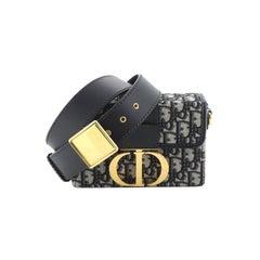 Christian Dior  30 Montaigne Box Bag Oblique Canvas