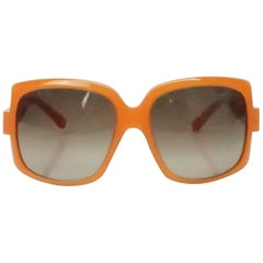 Christian Dior 60's Orange Square Sunglasses