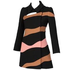 Christian Dior Abstract Stripe Coat Dress Runway Fall, 2015