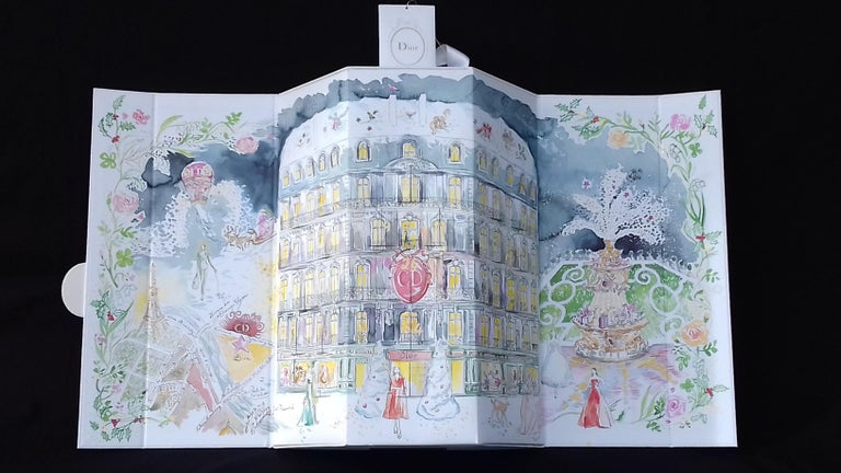 Christian Dior Advent Calendar Empty Christmas In Good Condition For Sale In ., FR