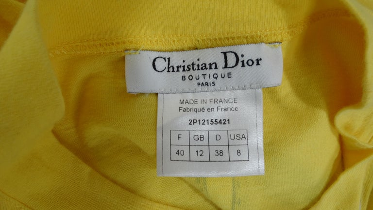 Christian Dior 'All Access' Graphic Long-Sleeve In Good Condition For Sale In Scottsdale, AZ