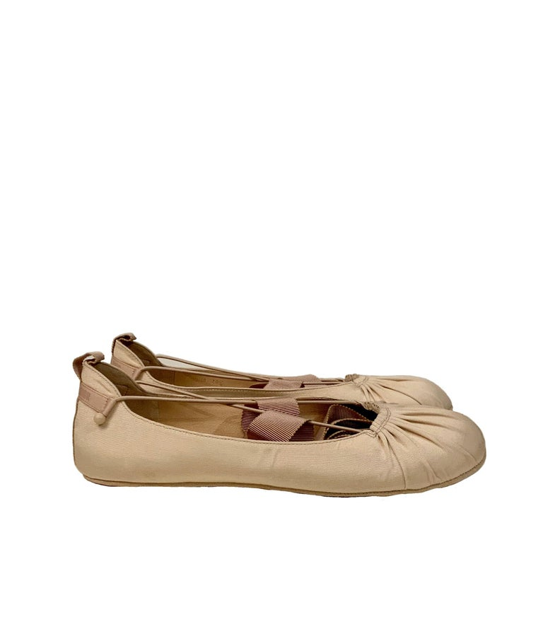 Women's Christian Dior Ankle Wrap Ballet Flats For Sale