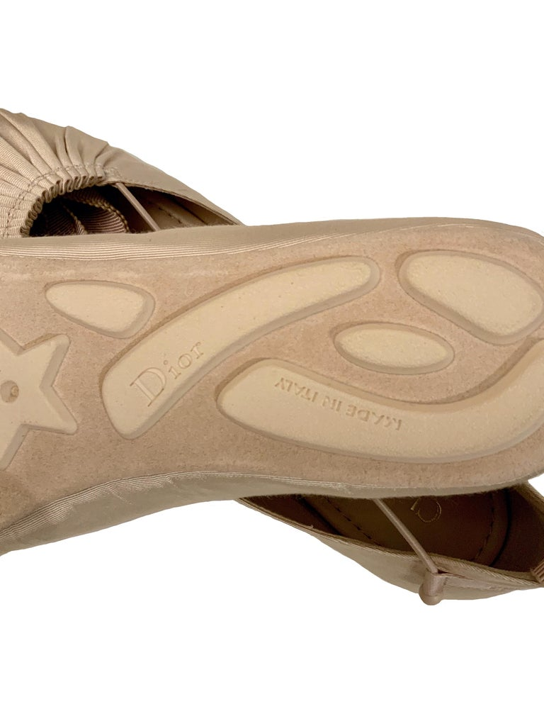 Christian Dior Ankle Wrap Ballet Flats For Sale 3