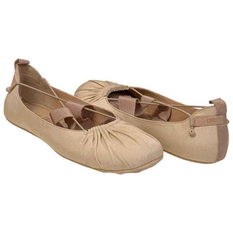 Christian Dior Ankle Wrap Ballet Flats For Sale