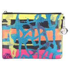 Christian Dior Art Zip Pouch Limited Edition Chris Martin Leather
