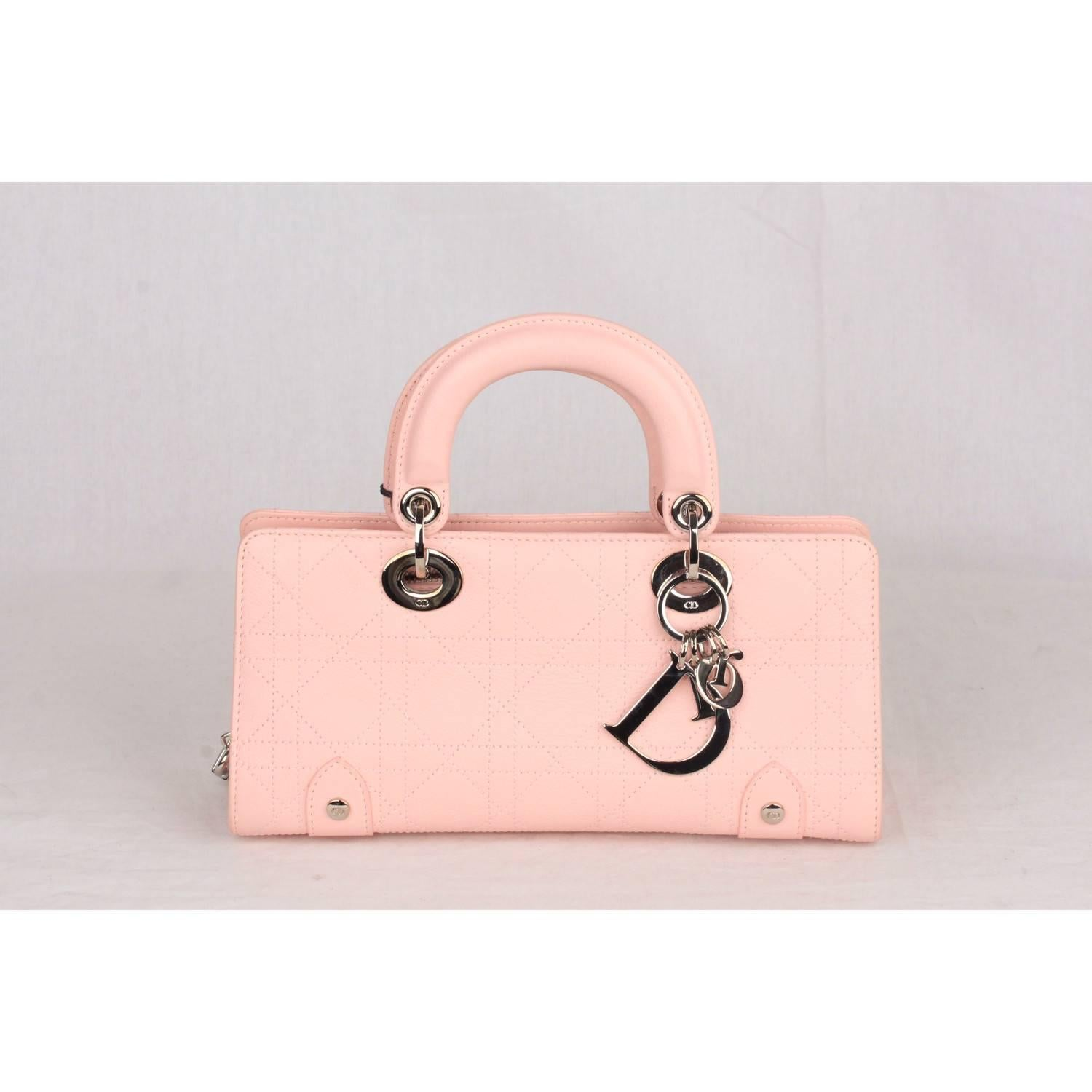 Dior Baby Pink Cannage East West Lady Bag Small For At 1stdibs