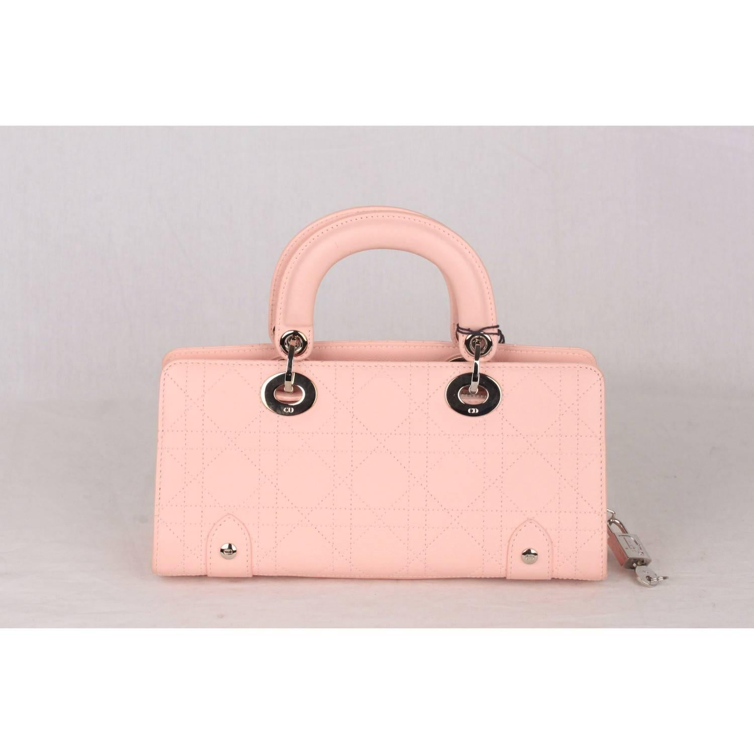 CHRISTIAN DIOR Baby Pink Cannage EAST WEST LADY DIOR Bag Small For Sale at  1stdibs 0d8d8d261989d