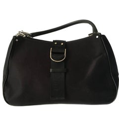 CHRISTIAN DIOR Bag in Black Satin Fabric