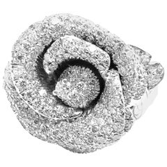 Christian Dior Bagatelle Rose Diamond Medium Model White Gold Ring