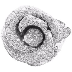 Christian Dior Bagatelle Rose Diamond Medium Model White Gold Ring
