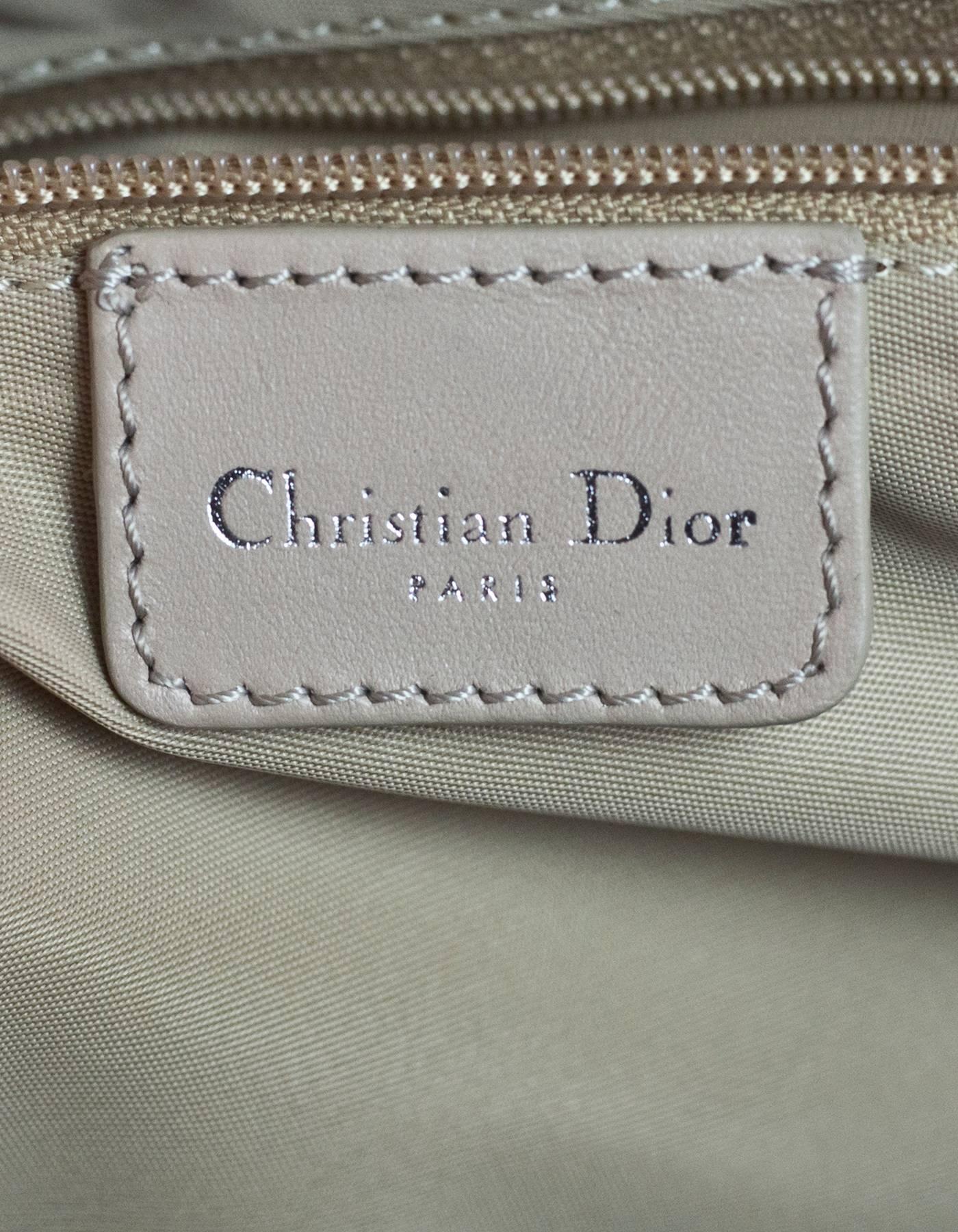Dior Beige Monogram Trotter Romantique Floral Bow Medium Handle Bag AaXD7c