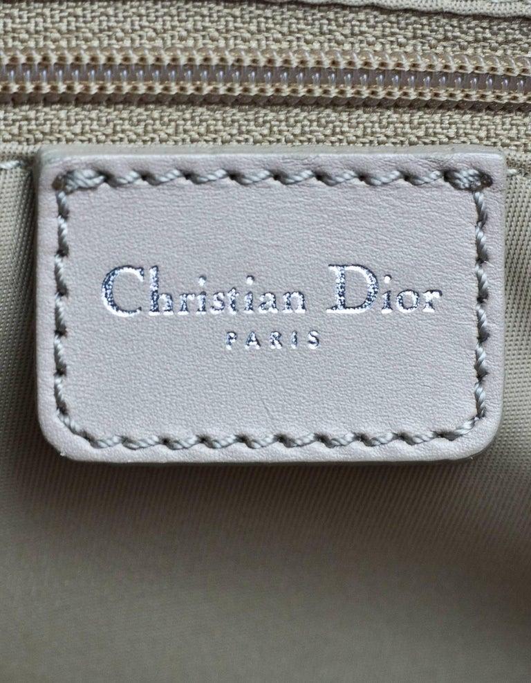 Christian Dior Beige Monogram Trotter Romantique Floral Bow Small Boston Bag For Sale 4