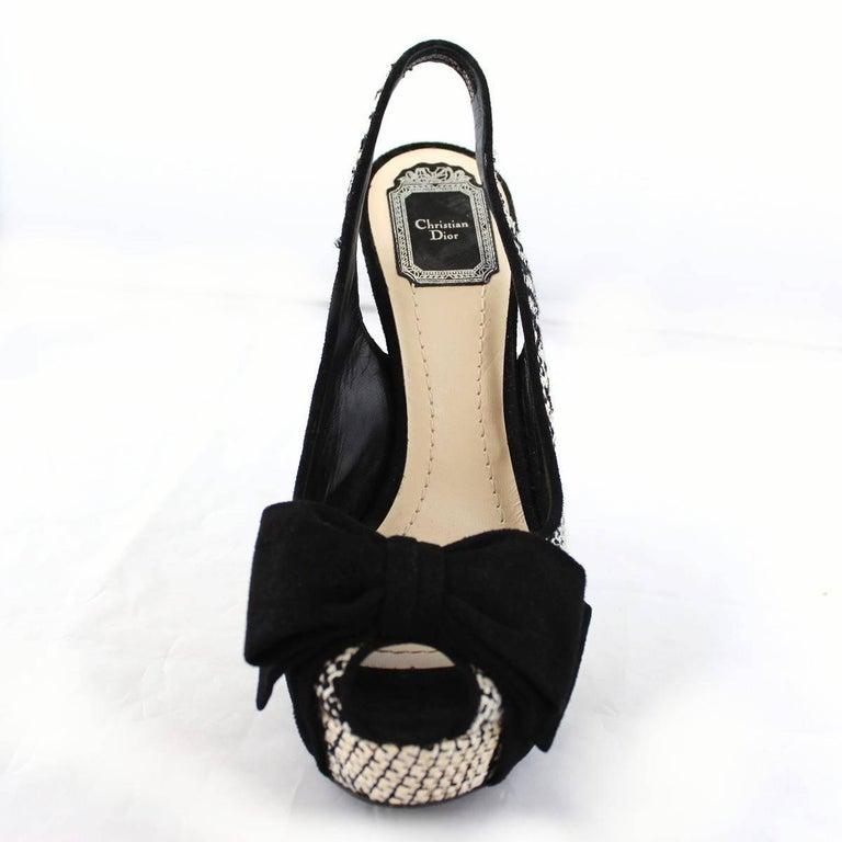 Christian Dior Black and White Sandal  In Excellent Condition For Sale In Gazzaniga (BG), IT