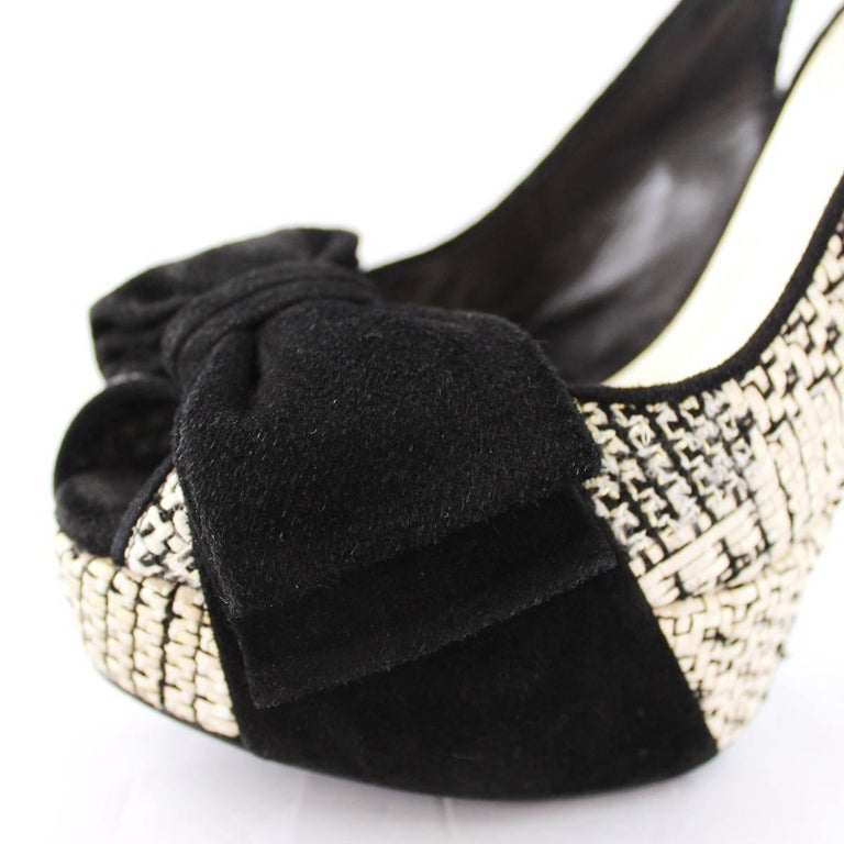 Women's Christian Dior Black and White Sandal  For Sale