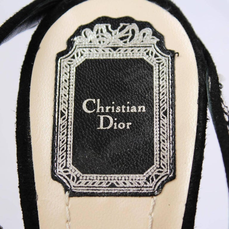 Christian Dior Black and White Sandal  For Sale 1