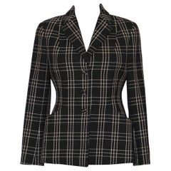 Christian Dior Black and White Wool Bar Jacket