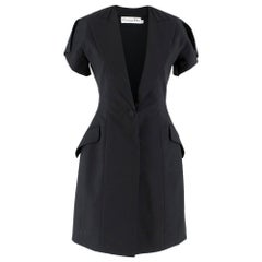 Christian Dior Black Asymmetric Blazer Dress SIZE 36