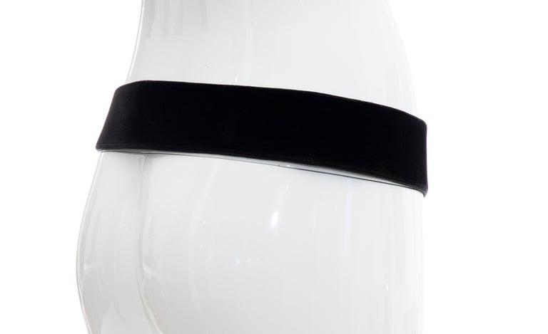 Christian Dior Black Bijoux Velvet Evening Belt For Sale 2