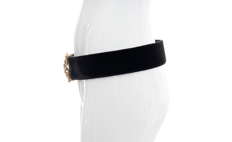 Christian Dior Black Bijoux Velvet Evening Belt For Sale 5
