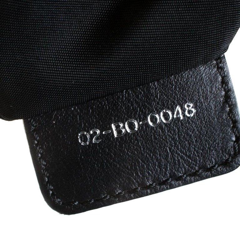 Christian Dior Black Charming Cannage Quilted Satin Doctor's Bag For Sale 1