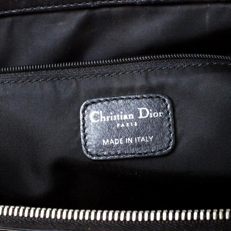 Christian Dior Black Charming Cannage Quilted Satin Doctor's Bag For Sale 3