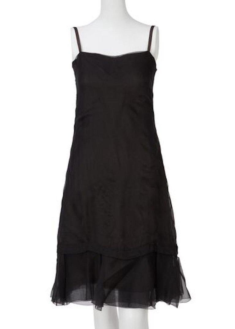 Christian Dior, Black Chiffon dress with jacket, Spring/Summer 1966 For Sale 1