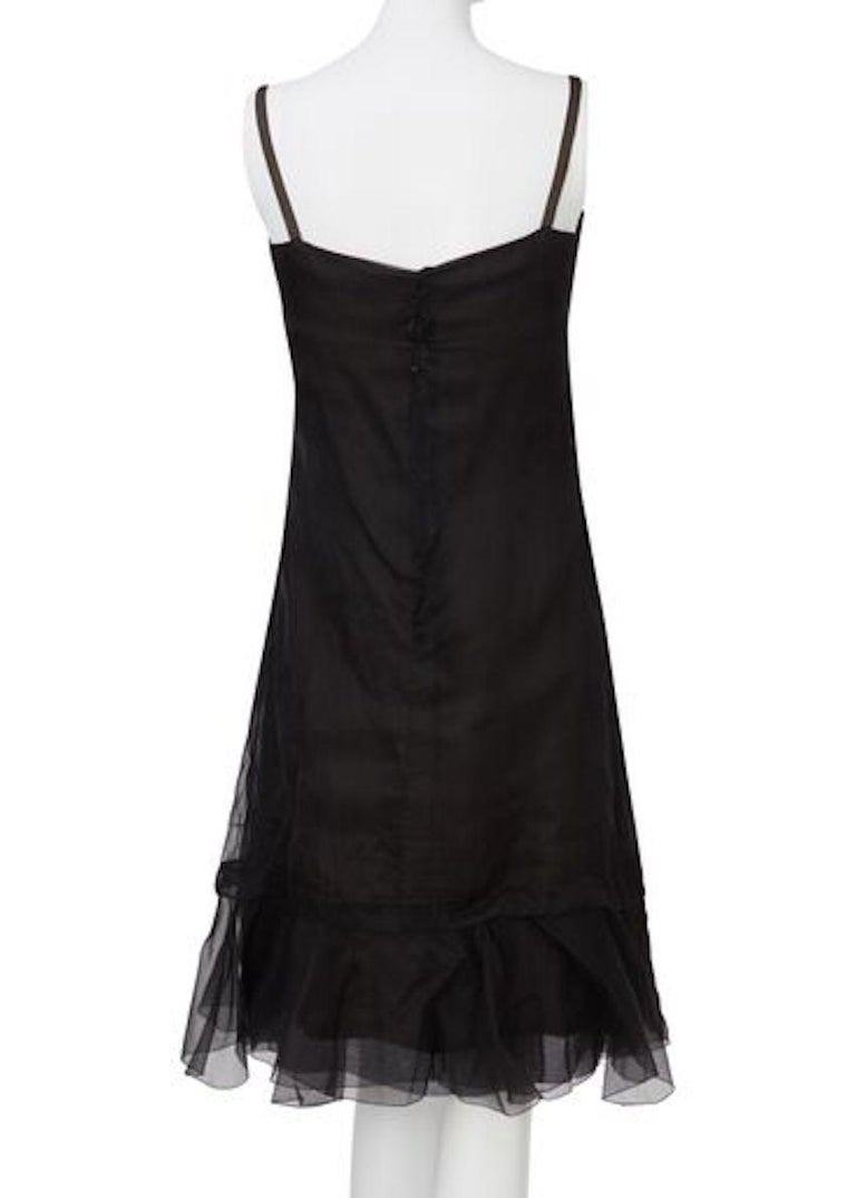 Christian Dior, Black Chiffon dress with jacket, Spring/Summer 1966 For Sale 2