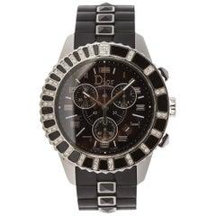 Christian Dior Black Christal Chronograph Quartz Watch CD114317R001