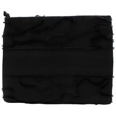Christian Dior Black Fabric Pouch