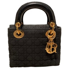 Christian Dior Black Nylon Mini Lady Dior Bag