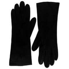 Christian Dior Black Suede Leather Gloves