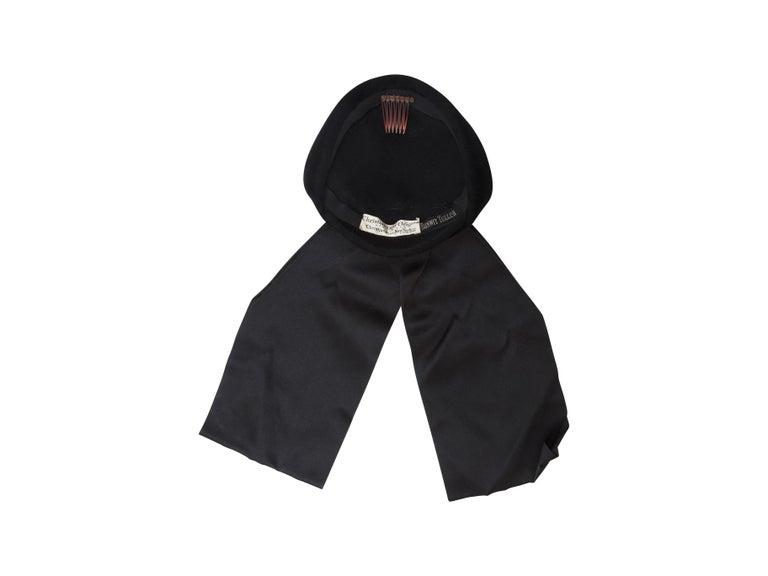 Women's Christian Dior Black Velvet 50s-60s Hat For Sale