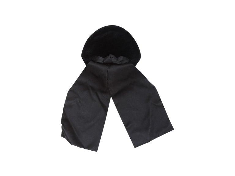 Christian Dior Black Velvet 50s-60s Hat For Sale 2